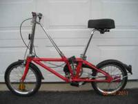We have a DaHon California Stow Away 3 Speed Foldaway