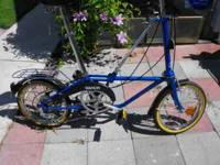 I have 2 Dahon folding bikes, one blue and one red,