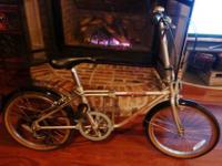 Superb condition with very little use. Bike folds up in
