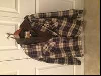 This is an insulated flannel/sweatshirt. Has a zip up