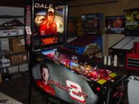 This is a like new Dale Jr. pinball machine. It is a