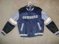 Leather Dallas Cowboys Mens Size Large Jacket By