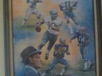 THIS IS A DALLAS COWBOYS OIL PAINTING ASKING $250