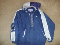 Dallas Cowboys Winter Jacket Coat Starter mens size XL
