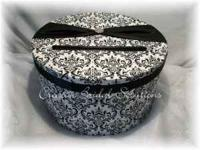 I have a gorgeous card box in black and white damask