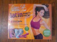 DANCE OFF THE INCHES- LATIN DANCE WORKOUT VIDEOS 4 CDS