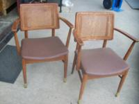 Mid Century kitchen area or eating chair, cane back,