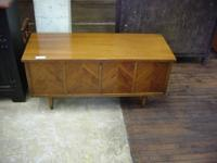 Walnut Danish blanket chest with a very clean excellent