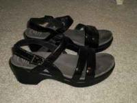 Used sandals, wore them about 3 or 4 times. Super