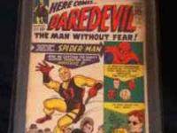 I have a Daredevil #1 comic book that was graded threw