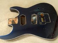 Dark-blue BC Rich 1980s US Made Guitar Body Navy Blue