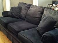 DARK BLUE CORDUROY COUCH. EXCELLENT CONDITION. HAS A