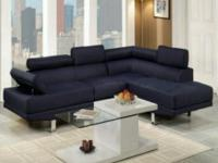 Type:Furniture Brand new dark blue sectional, FREE