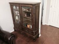 Dark Brown Curio Cabinet for sale. $700.00 obo