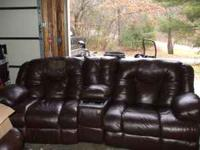 Really nice leather sofa and chair origanally paid over