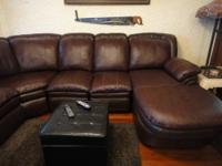 Beautiful leather sectional purchased new from Bob's