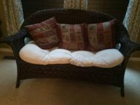Pier One Loveseat and chair with bottom cushions