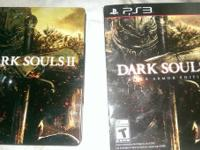 Dark souls 2 with steel collectors case and soundtrack.