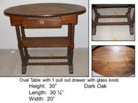 Dark wooden table with 6 chairs in excellent condition.