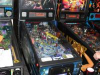 This pinball machines listed is currently IN STOCK and