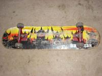 "Darkstar Skateboard. Has a small 1"" chip that only goes"