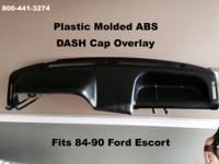 Plastic Molded Dash Cap Overlay Fits 84-90 Ford Escort