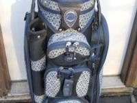Datrek ladies cart golf bag, light weight, blue/grey,