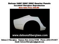 Datsun 240Z 260Z 280Z Quarter Panels New Fiberglass.