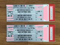 Dave Matthews Band -2 tickets readily available.