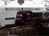THIS IS A CASE DAVID BROWN 885 TRACTOR IT COMES WITH A