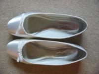 Davids Bridal Dyeable WHITE Satin Wedding Ballet