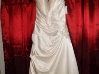 size 12 ivory halter top and train davids brial wedding