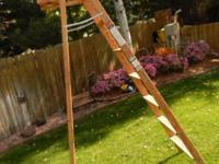 This Davidson 8 Foot 200 Lb. rating wooden step ladder