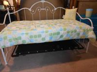 Beautiful, Shabby Daybed with Mattress!   Like us on