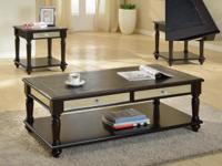 SPECTACULAR COFFEE AND END TABLE SET! ONLY $299.00.