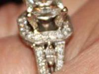 I am selling a flawless ladies 18kt white gold custom
