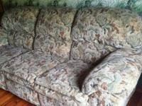 $375 OBO. 3 piece set: double-recliner couch & 2