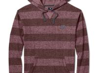 Stripes never go out of style, and this fleece hoodie