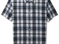Classic plaid and style combine on this button front