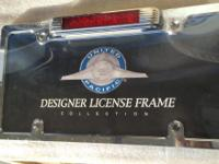 This is a high quality Chrome metal license plate frame