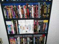 Many BluRays $5 Dvds $2 Ps3 nothing over $20 Ps2 $5 PS2