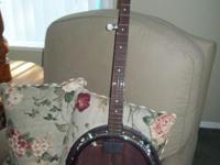 THIS WAS A BRAND NEW BANJO, IT HAD A VERY SHALLOW CRACK