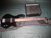 Dean 4 string bass, with case and Dean amp. bought it