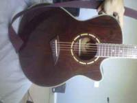 -3 month old Dean EWAL acoustic - electric guitar.