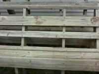 nice bench seat for deck treated lumber, 11.5 ft long