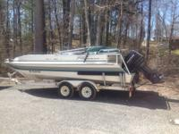 1997 Sun Tracker Party Deck Boat 120 Horse Mercury