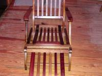 Beautiful Antique Steamer Deck Chair from the Queen