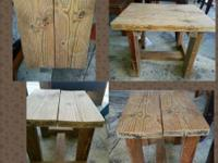 Great outdoor side/end table. Would be great sanded