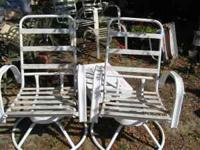2 deck/patio chairs. Swivel rockers. A little used but