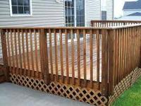 Free estimates we build decks Jacuzzi accommodations,